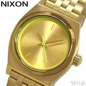 【当店ならお得クーポンあり】ニクソン NIXON スモールタイムテラー時計 腕時計 レディースゴールド A399-1618|ryus-select