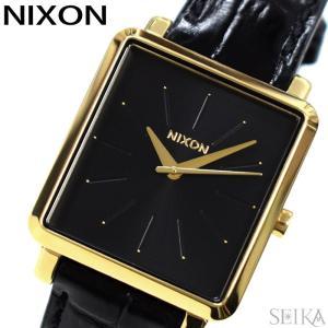 (5年保証) 時計 ニクソン NIXON Kスクエアード A472-2022 A4722022腕時計 レディース ブラック レザー(D10)|ryus-select