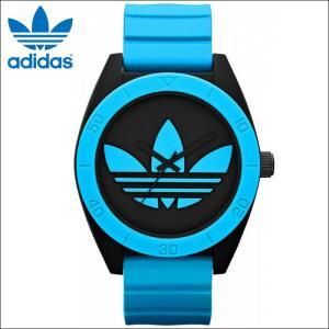 アディダス adidas 時計 腕時計ADH2847 ブラック ブルー ラバー メンズ サンディアゴ(k15)|ryus-select