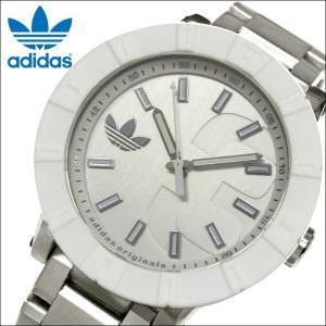 時計 アディダス adidas メンズ 腕時計 (ADH3001) ホワイト×シルバー|ryus-select