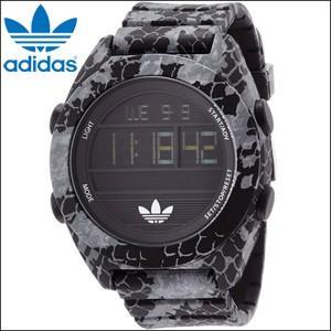 時計 アディダス adidas 腕時計 メンズブラック スネーク柄 ADH3046|ryus-select