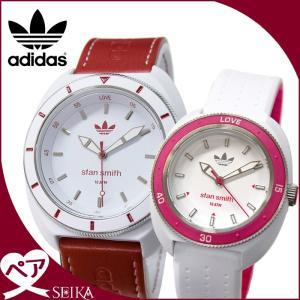 (ペア価格)adidas/アディダス 時計 ペアウォッチ(ADH9088(メンズ)/ホワイト×レッド)(ADH3188(レディース)/ホワイト×ピンク)/、本物、当店在庫だから安心|ryus-select
