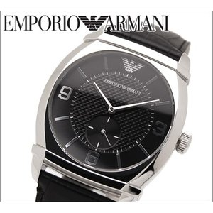 エンポリオアルマーニ メンズ腕時計ブラック/ブラックレザー(AR0342)|ryus-select