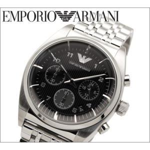 エンポリオアルマーニ メンズ腕時計クロノグラフ ブラック【AR0373】【時計】【ウォッチ】|ryus-select