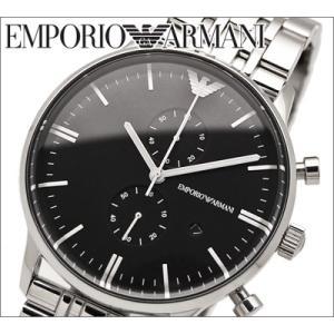 エンポリオアルマーニ/EMPORIO ARMANI メンズ腕時計 AR0389/ブラック/クロノグラフ|ryus-select
