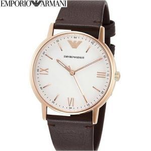 (レビューを書いて5年保証) 時計 エンポリオアルマーニ EMPORIOARMANI AR11011 腕時計 メンズピンクゴールド ホワイト ダークブラウン レザー 父の日|ryus-select