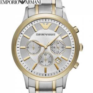 エンポリオアルマーニ EMPORIOARMANI AR11076時計 腕時計 メンズシルバー グレー ゴールド (k-15)|ryus-select
