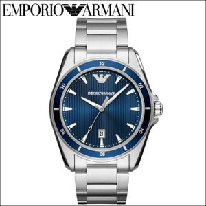 (レビューを書いて5年保証) (スプリングクリアランス) 時計 エンポリオアルマーニ EMPORIO ARMANI AR11100 腕時計 メンズ ブルー シルバー 青い腕時計 父の日|ryus-select