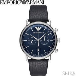 (レビューを書いて5年保証) (スプリングクリアランス) 時計 エンポリオアルマーニ EMPORIO ARMANI AR11105 腕時計 メンズ ネイビー レザー 父の日|ryus-select