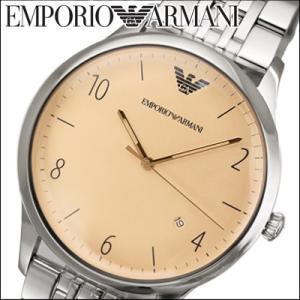 エンポリオアルマーニ メンズ 時計(AR1881)クリーム×シルバー|ryus-select