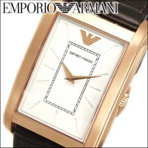 エンポリオアルマーニ メンズ腕時計(AR1901) ホワイト×ピンクゴールド/レザー|ryus-select
