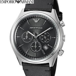 【商品入れ替えクリアランス】エンポリオアルマーニ AR1975 時計 腕時計 メンズ シルバー ブラック レザー (k-15)|ryus-select