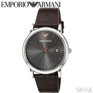 エンポリオアルマーニ EMPORIO ARMANI AR1996時計 腕時計 メンズ ブラウン レザー|ryus-select