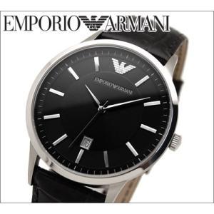 エンポリオアルマーニ/EMPORIO ARMANI メンズ腕時計 AR2411/ブラック×ブラックレザー|ryus-select