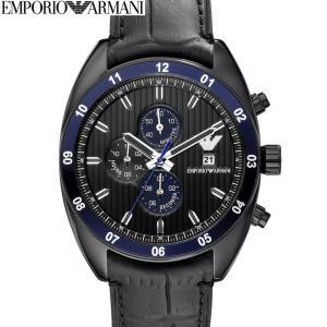 エンポリオアルマーニ EMPORIOARMANI AR5916時計 腕時計 メンズブラック レザー (k-15)|ryus-select