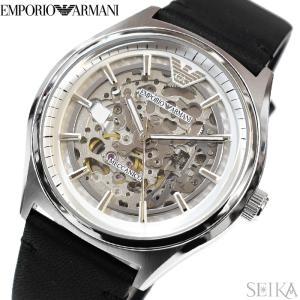 エンポリオアルマーニ EMPORIO ARMANI AR60003時計 腕時計 メンズ ブラック レザー 自動巻き|ryus-select