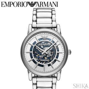 (レビューを書いて5年保証) 時計 エンポリオアルマーニ EMPORIO ARMANI AR60006 腕時計 メンズ シルバー 自動巻き 父の日|ryus-select