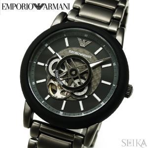 (レビューを書いて5年保証) エンポリオアルマーニ EMPORIO ARMANI AR60010 時計 腕時計 メンズ ブラック 自動巻き|ryus-select
