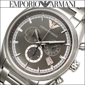 エンポリオアルマーニ/EMPORIO ARMANI メンズ 時計 (AR6008)グレー×シルバー/クロノグラフ|ryus-select