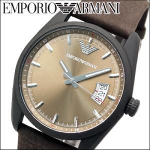 エンポリオアルマーニ メンズ 時計(AR6081) ブラウン×マットブラック×ブラウンレザー|ryus-select