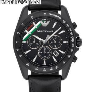 【商品入れ替えクリアランス】エンポリオアルマーニ AR8036 時計 腕時計 メンズ ブラック レザー カフス付き(k-15)|ryus-select