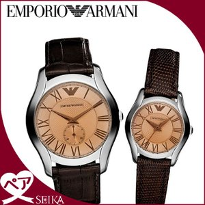 ペアウォッチ エンポリオアルマーニ EMPORIO ARMANIAR9110 メンズ レディース ブラウン レザー|ryus-select