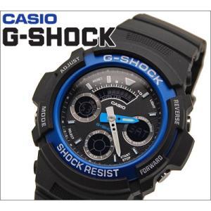 【22】カシオ/CASIO G-SHOCK/Gショック 腕時計 AW-591-2A/コンビ ブルー アナログ&デジタル|ryus-select