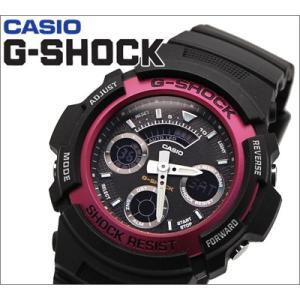 【23】カシオ G-SHOCK/Gショック 腕時計 AW-591-4AER/アナログ&デジタル コンビ レッド【並行輸入品】|ryus-select