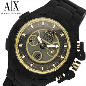 アルマーニエクスチェンジメンズ腕時計 AX1194/アナログ/デジタル ブラック×ゴールド ryus-select