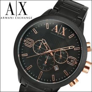 アルマーニエクスチェンジ メンズ 時計 AX1350/ブラック×ピンクゴールド|ryus-select