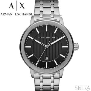 【当店ならお得クーポンあり】アルマーニエクスチェンジ ARMANI EXCHANGE AX1455時計 腕時計 メンズ ブラック シルバー|ryus-select