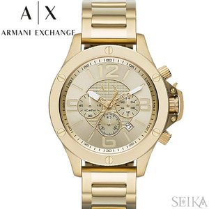 【当店ならお得クーポンあり】アルマーニエクスチェンジ ARMANI EXCHANGE AX1504時計 腕時計 メンズ ゴールド|ryus-select