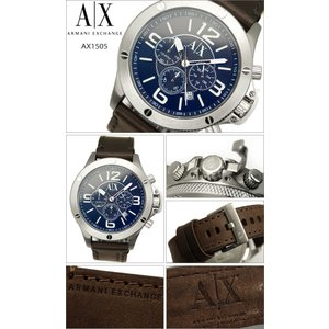 アルマーニ エクスチェンジ メンズ 時計 AX1505 ブルー×ブラウンレザー ryus-select 02