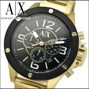 アルマーニエクスチェンジ メンズ 時計 (AX1511)ブラック×ゴールド ryus-select