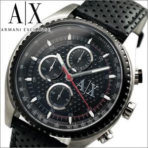 アルマーニエクスチェンジ メンズ 時計  AX1600/ブラック/レザー|ryus-select