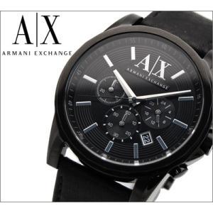 (オータムクリアランス) アルマーニエクスチェンジ/ARMANI EXCHANGE メンズ 腕時計 AX2098/クロノグラフ/ブラック×ブラックレザー ryus-select
