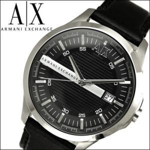 【当店ならお得クーポンあり】 アルマーニ エクスチェンジ/ARMANI EXCHANGEメンズ 時計 AX2101/ブラック×シルバー/レザー|ryus-select