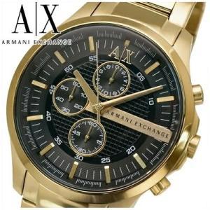 アルマーニエクスチェンジ メンズ 時計  (AX2137) ブラックゴールド|ryus-select