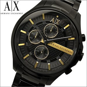 アルマーニエクスチェンジ メンズ 時計 (AX2164)ブラック×ゴールド ryus-select
