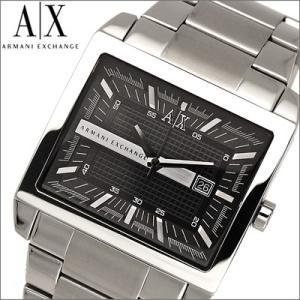 (5年保証) 時計 アルマーニエクスチェンジ メンズ 腕時計 ブラック スクエア (AX2200) ウォッチ|ryus-select