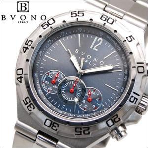【商品入れ替えクリアランス】ボーノ BVONO 時計 腕時計 メンズ ブルーグレー B-5587-5 青い腕時計|ryus-select