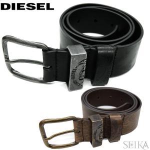 【当店ならお得クーポンあり】【18】DIESEL ディーゼル ヴィンテージ加工 メンズ ベルト X03759|ryus-select