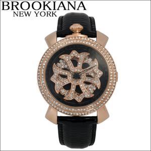 ブルッキアーナ/BROOKIANA レディース時計 スピンウォッチ(BA2312-RGBK)ブラック×ピンクゴールド|ryus-select
