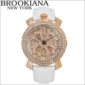ブルッキアーナ/BROOKIANA レディース時計 スピンウォッチ(BA2312-RGWH)ホワイト×ピンクゴールド|ryus-select