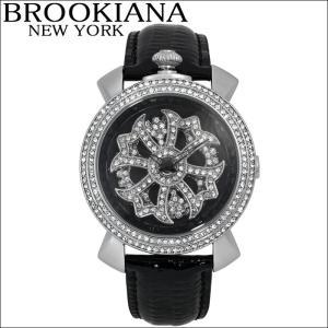 ブルッキアーナ/BROOKIANA レディース時計 スピンウォッチ(BA2312-SVBK)ブラック×シルバー|ryus-select