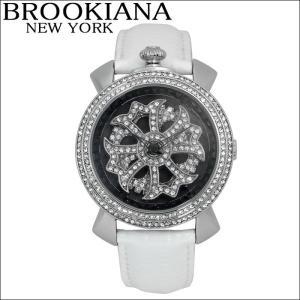 ブルッキアーナ/BROOKIANA レディース時計 スピンウォッチ(BA2312-SVBKWH)ホワイト×シルバー|ryus-select