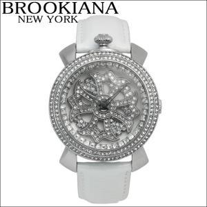 ブルッキアーナ/BROOKIANA レディース時計 スピンウォッチ(BA2312-SVWH)ホワイト×シルバー|ryus-select