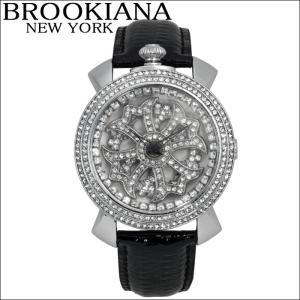 ブルッキアーナ/BROOKIANA レディース時計 スピンウォッチ(BA2312-SVWHBK)ブラック×シルバー|ryus-select