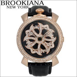 【クリアランス】 ブルッキアーナ/BROOKIANA メンズ レディース 時計 スピンウォッチ(BA2313-RGBK)ブラック×ピンクゴールド|ryus-select
