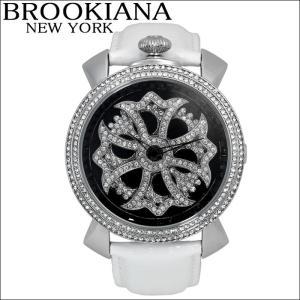 【クリアランス】 ブルッキアーナ/BROOKIANA メンズレディース 時計 スピンウォッチ(BA2313-SVBKWH)ホワイト×シルバー|ryus-select